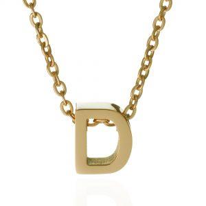 חרוז אות בעיצוב אישי - זהב 14K