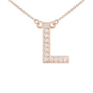 שרשרת יהלומים L - זהב 14K