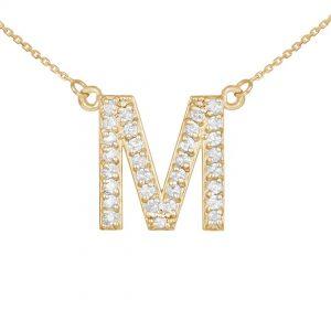 שרשרת יהלומים M - זהב 14K