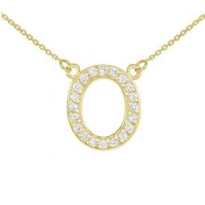 שרשרת יהלומים O - זהב 14K