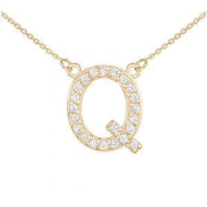 שרשרת יהלומים Q - זהב 14K