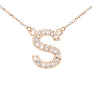 שרשרת יהלומים S - זהב 14K