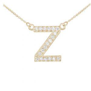 שרשרת יהלומים Z - זהב 14K